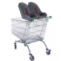 212L Twin Baby Toddler Shopping Trolley