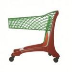 Keita (90L) Trolley Red/Green