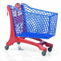 Duka Eco Shopping Trolley Red/Blue