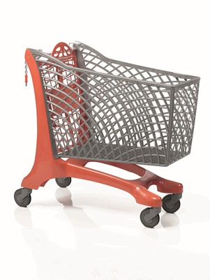 Duka Eco Shopping Trolley Red/Grey