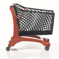 Duka Eco Shopping Trolley Red/Black
