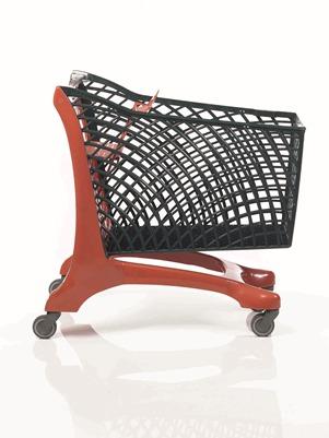 Duka Eco Shopping Trolley Red/Black