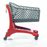 Twiga Plastic Eco Supermarket Shopping Trolley Red/Grey