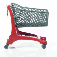 Twiga Plastic Eco Supermarket Shopping Trolley Red/Grey