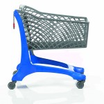 Twiga Plastic Eco Supermarket Shopping Trolley Blue/Grey
