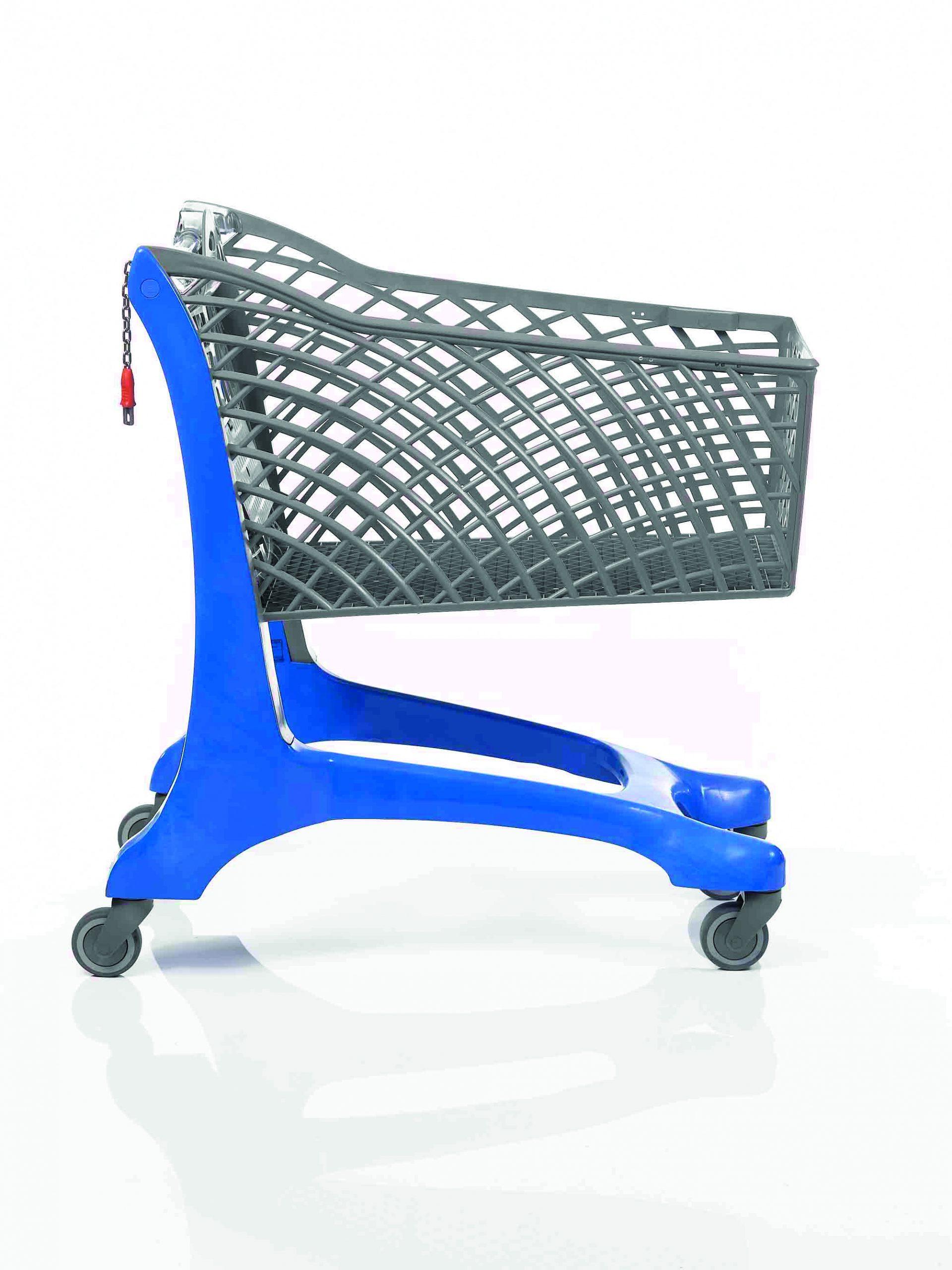 Twiga Plastic Eco Supermarket Shopping Trolley Blue/Grey