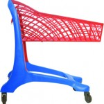 Keita Plastic Supermarket Trolley Blue/Red