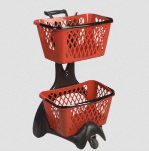 Double Shopping Basket Holder