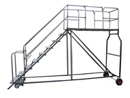 Customised Mobile Ladders With Platform