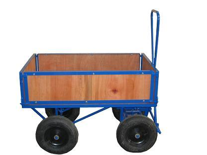 Turntable Trolley With Timber Sides