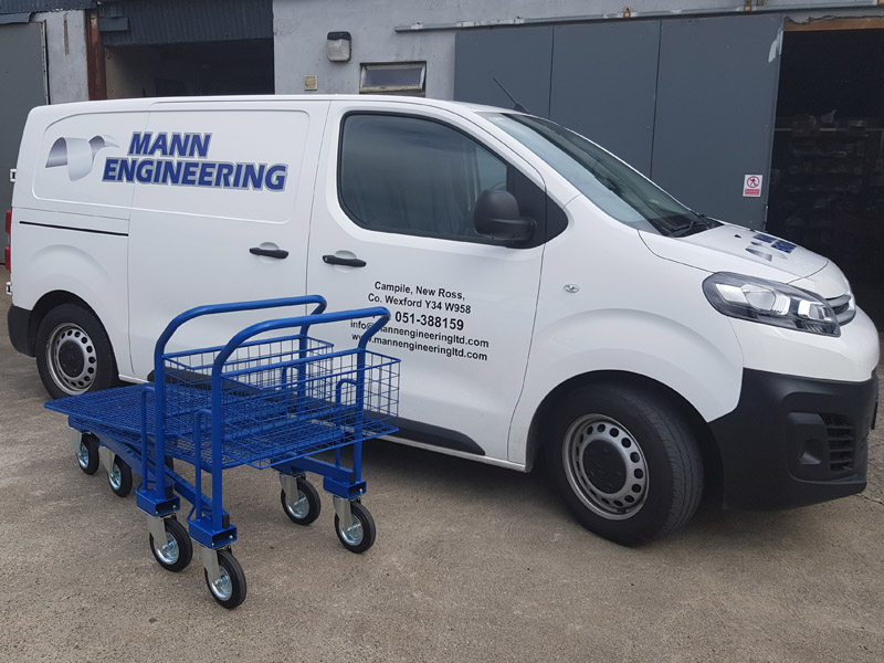 Cash & Carry Trolleys Mesh Base ready for delivery