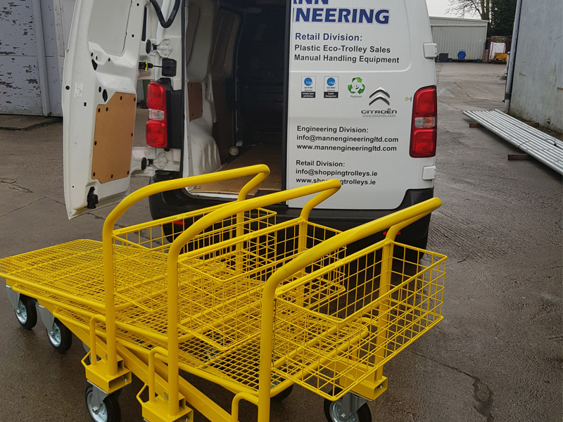 Cash & Carry Trolleys ready for delivery Mann-Engineering