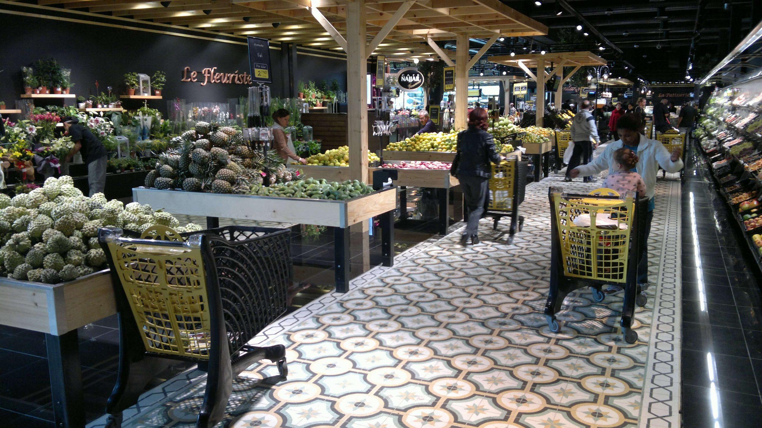 Eco Plastic Supermarket Shopping Trolleys