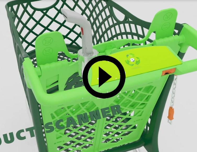 Hybrid Eco Plastic Shopping Trolley