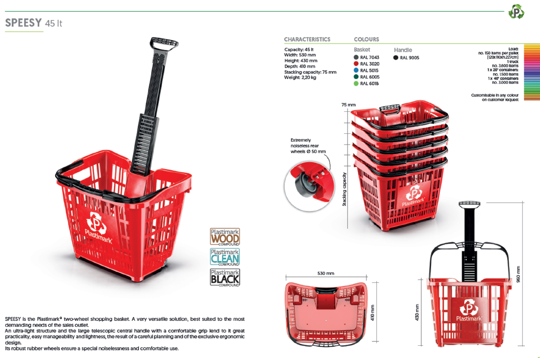 Speesy 45 Litre Basket Specification