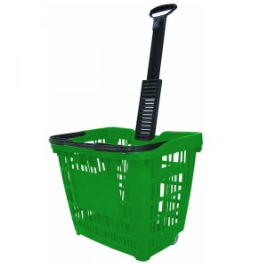 Speesy Plastic Shopping Trolley on Wheels