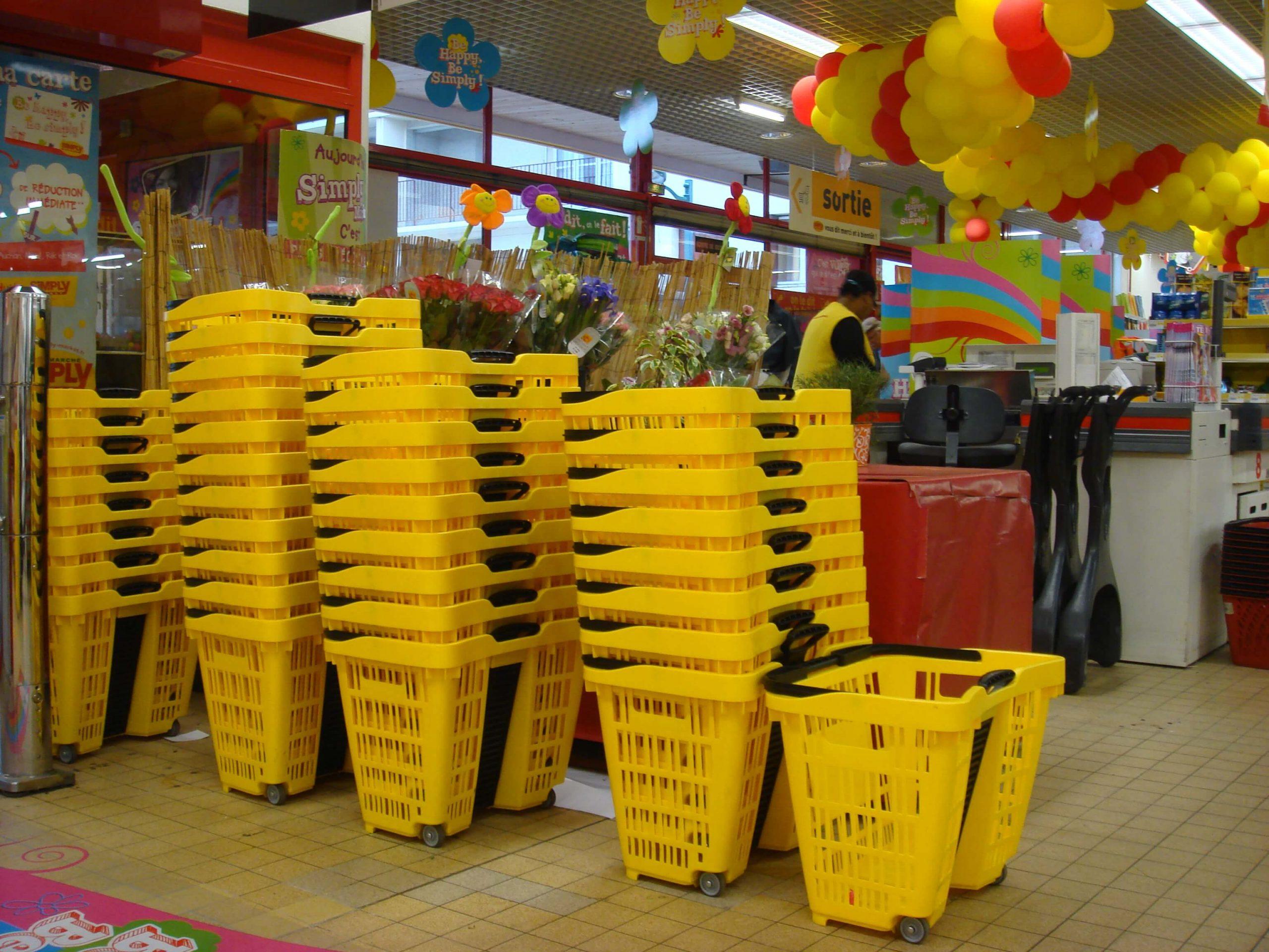 Speesy Supermarket Shopping Baskets Stacked
