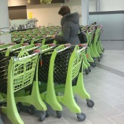 Supermarket Shopping Trolleys Stacked