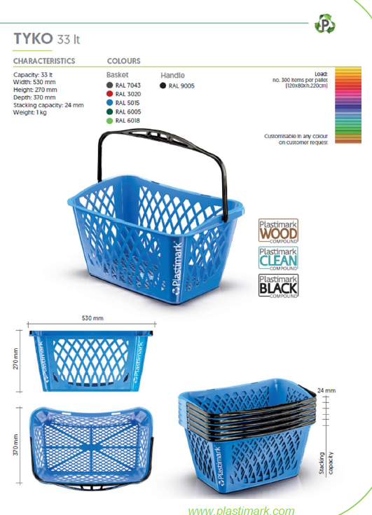 Tyco Basket 33 Litre Specification