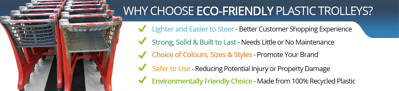why choose ecofriendly plastic trolleys